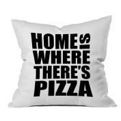 Oh, Susannah Home Is Where There's Pizza 46cm x 46cm Throw Pillow Cover