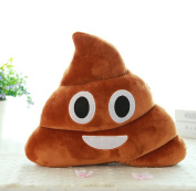 Rukiwa Browm Emoji Smiely Poop Pillow Plush Cushions Home Decor Kids Gift Stuffed Poop Doll Keychain