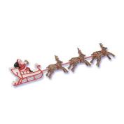 Santa Sleigh Reindeer Christmas Winter Cake Kit Topper Cake Decorating Kit