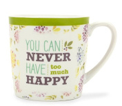 Brownlow Kitchen Ceramic Mug, You Can Never Have Too Much Happy
