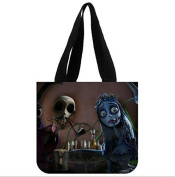 Cool Design Zombie Movie Corpse Bride Printed Personaized Shopping Bags Eco friendly Tote Bags