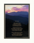 "Special Gift for Friend. Mts Sunset Photo with ""Thank You Prayer for Friend"" Poem. 8x10 Double Matted. Great Friendship Gift or Best Friend Gift for Birthday or Christmas."
