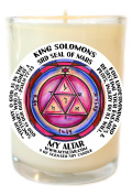 Solomons Mars 3 To Undermine Enemies 240ml Scented Soy Glass Prayer Candle