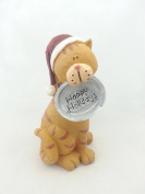 Tii Collections - 15cm Resin Cat with Hat and Food Bowl, Reads