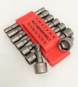 Tiny Dog 14Pc Power Nut Driver Set Dual Metric Mm & Standard Sae 0.6cm Shank Crv