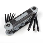 Tiny Dog T9-T40 8In1 Folding Torx Star Key Bit Screwdriver Set Hand Tool
