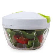 Sale-Manual Food Chopper Compact & Hand Held Vegetable Chopper / Mincer / Blender to Chop Fruits, Vegetables, Nuts, Herbs, Onions, Garlics for Salsa, Salad, Pesto, Coleslaw, Puree-3 Cup