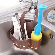 Ioffersuper Portable Kitchen Hanging Drain Bag Basket Bath Storage Gadget Tools Sink Holder Coffee
