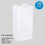 1.8kg White Rainbow Paper Bags (100Pcs/Pack)