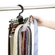 Vinmax Home Tie Rack for Clothes Hanger Organiser Travel Hanging Space Saver