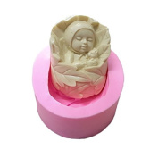 WYD Bush Baby Mermaid Silicone Mould,Handmade Soap Mould,Cake Mould Decorating,Fondant Baking Mould