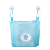 diffstyle Home Mesh Storage Bags with Strong Suction Cups for Bathroom Kitchen Baby Bath Toy Organiser