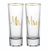 Mr and Mrs Shot Glass Set of 2
