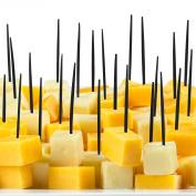 Soodhalter Pic-A-Pic, 300 Black Plastic Party Picks, 6.4cm Food Toothpicks