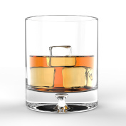 . European Design Crystal Glasses By Ravenscroft Crystal- Premium Bourbon, Whisky, Double Old Fashioned Glasses- Set of 4- 350ml - Perfect Gift For Scotch Lovers- BONUS Microfiber Cleaning Cloth