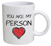 Funny Mug - You are my person. Red Heart. Boyfriend, Girlfriend - 330ml Coffee Mugs - Funny Inspirational and sarcasm - By A Mug To Keep TM