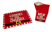 DEI Cookies and Milk for Santa Plate and Milk Container Holiday Set