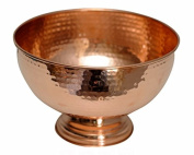 Premium Quality Hammered Copper Punch Bowl - 100% Pure Heavy Gauge Copper - By Alchemade