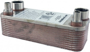 Duda Energy HX1220:HB34 B3-12A 20 Plate Stainless Steel Heat Exchanger with 1.9cm Hose Barb Ports Copper Brazed, 5.1cm Height, 7.4cm Width, 19cm Length