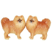 Pacific Giftware Pomeranian Dog Salt and Pepper Shakers Set, Magnetic