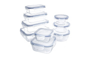 Glass Food Storage Container Set - BPA Free - Use for Home, Kitchen and Restaurant - Snap On Lids Keep Food Fresh With Airtight Seal Safe for Dishwasher, Freezer, Microwave and Oven