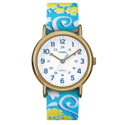 Timex Weekender Full-Size Watch - Reversible Floral Swirl/White