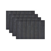 Set of 4 Table Place Mats 45 x 30cm Rectangle Wipe Clean Tableware - Slate