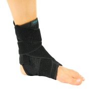 Ankle Brace by Vive - Best Sprained Ankle Support for Basketball, Running or Volleyball - Neoprene Ankle Wrap with Adjustable Straps - Vive Guarantee