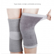 Restar Bamboo Charcoal Cashmere Warm Metal Spring Fitness Knee Pad Unisex Cashmere Knee Brace Pads Winter Warm Thermal Knee Pad 1 Pair