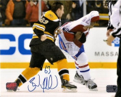 Brad Marchand Boston Bruins signed fight w/ PK Subban Montreal Canadiens 8x10