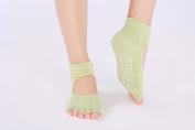 Sporealth Cotton Non-Slip Yoga Socks Yoga Socks, Pilates Socks, Toeless Non Slip Skid With Grips For Women