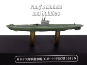 German Type VII (U-boat) Submarine 1/1100 Scale Diecast Metal Model Ship
