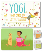YOGI FUN Kids Yoga Cards Kit with Illustrations, Poetic Instructions and 2 DIY Dice Great for Indoor and Outdoor Family Activities and Unique Christmas Gift