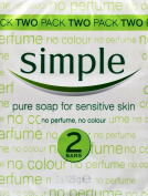 THREE PACKS of Simple Soap Bar 125g Twin Pack