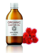 ORGANIC Castor Oil 250 ml - Pure 100 % Natural Moisturiser for Hair, Nails, Face & Body - Cleopatra's Beauty Oil
