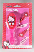 Hello Kitty Hair Brush And Clips Accessory Set, Suitable For Kids 3+ Years Old