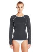 Speedo Women's Swim Tee & Travel Sunscreen Spray (SPF 15) Bundle