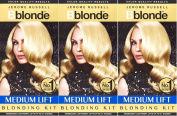 THREE PACKS of Jerome Russell B Blonde Medium Lift Blonding Kit