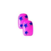 Cala Little Miss Nails Pre-Glued Set in Pink with Blue Stars+ FREE Aviva nail file by Cala Beauty