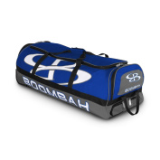 Boombah Brute Rolling Baseball / Softball Bat Bag - 90cm x 38cm x 30cm - 1.3cm - Royal Blue/Grey - Holds 4 Bats and Room for Gear - Wheeled Bag