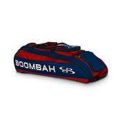 Boombah Beast Baseball / Softball Bat Bag - 100cm x 36cm x 33cm - Red/Navy - Holds 8 Bats, Glove & Shoe Compartments
