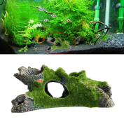 Stebcece New Aquarium Mountain View Moss Tree House Decor Fish Tank Ornament Decoration
