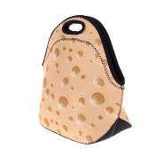 Lunch bag box neoprene school work handbag breakfast Swiss Cheese