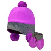 Igloos Girls Fleece/Acrylic Flap Cap & Mitten Set