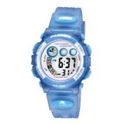 Wise® Children Girls Watches, Digital LCD Sports Watch, Kids Boys Waterproof Sport Watch 239g Blue