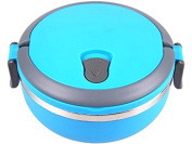 Blue 700 Ml Thermos Soup Food Lunch Box Food Stainless Steel Insulated Thermal Blue