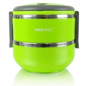 Thermos Safety Stripe Lunch Box Green Soup Food Food Insulated Thermal 1.4 Litres Stainless Steel