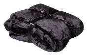 Viva Cashmere Feeling Microfibre Throw, 150 x 200 cm, Various Colours black