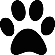 6 x Large Dog/Puppy Paw Print Gloss Decals Car Bumper Wall Play Area Grooming