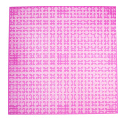 Premium 25cm x 25cm Clear Magenta Stackable Base Plate - Compatible with All Major Brands